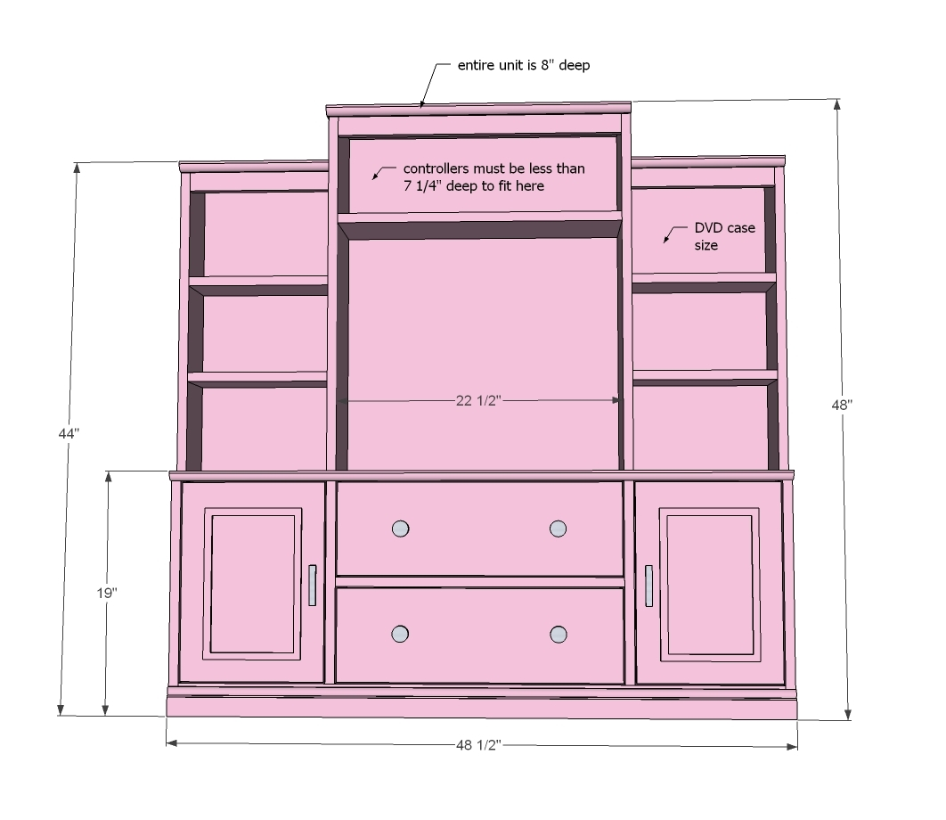 Full Wall Entertainment Center Plans