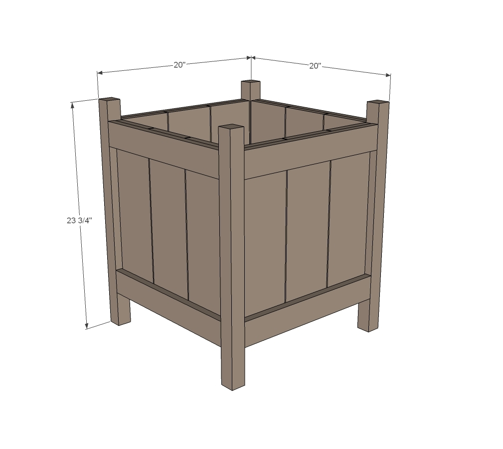 dimensions diagram of cedar planter