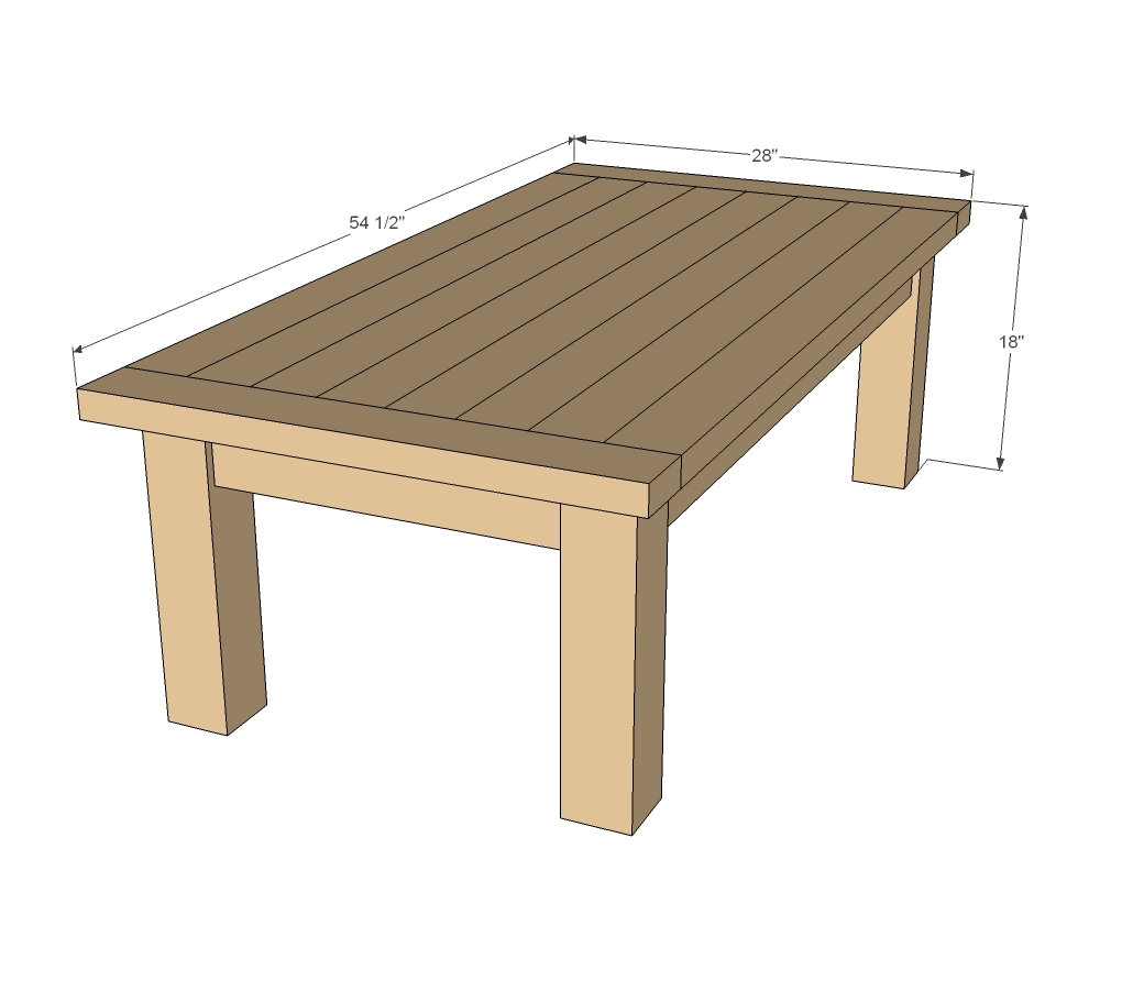 diy coffee table plans white updated tryde coffee table pocket holes 242