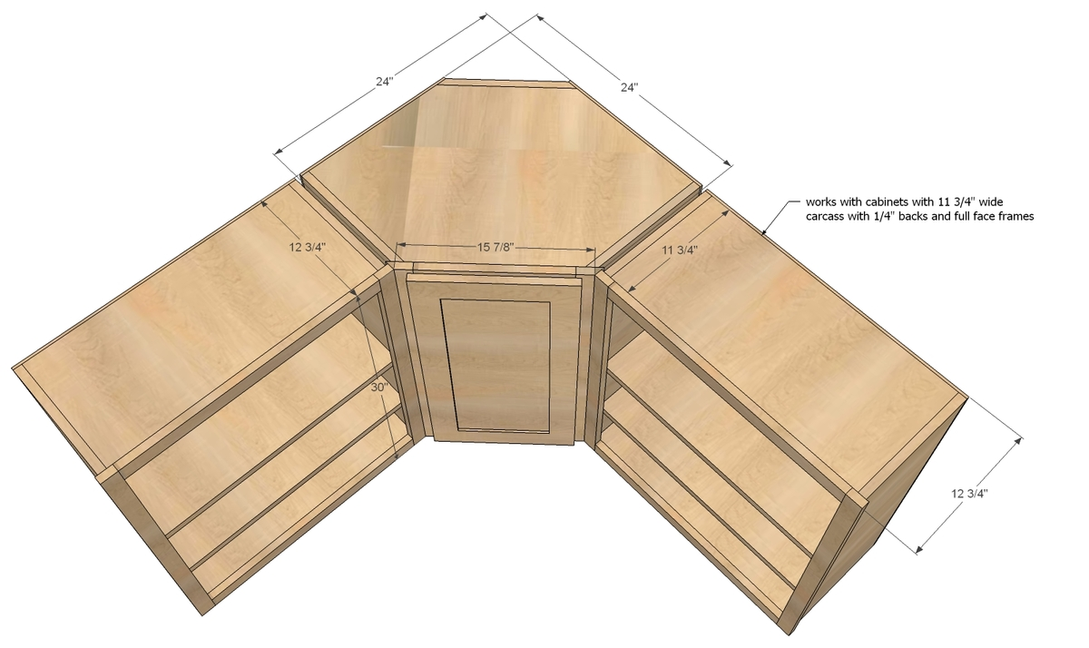 Woodwork how to build corner kitchen wall cabinet plans for Build your own kitchen cabinets free plans