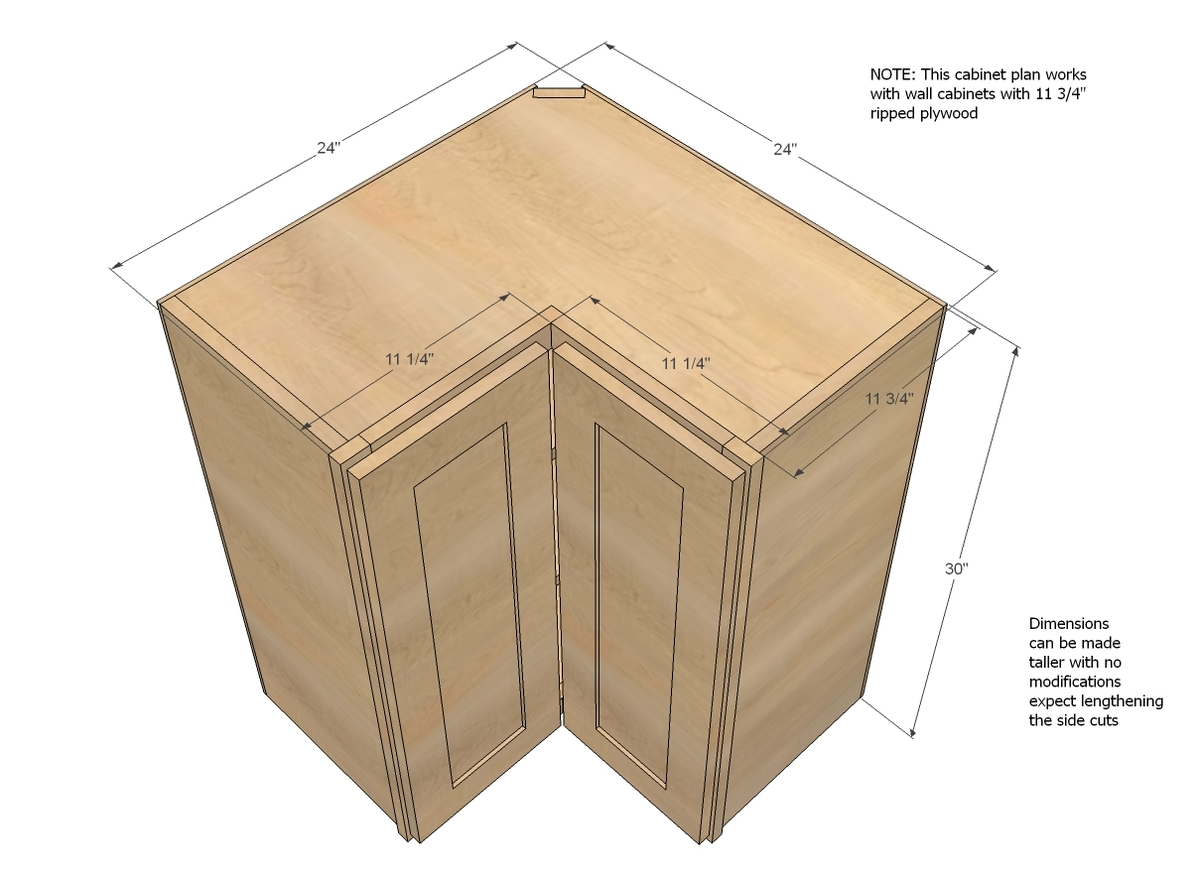 How To Build Corner Cabinet Doors