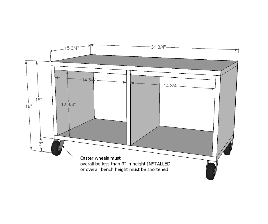mudroom bench dimensions plans diy free download table top