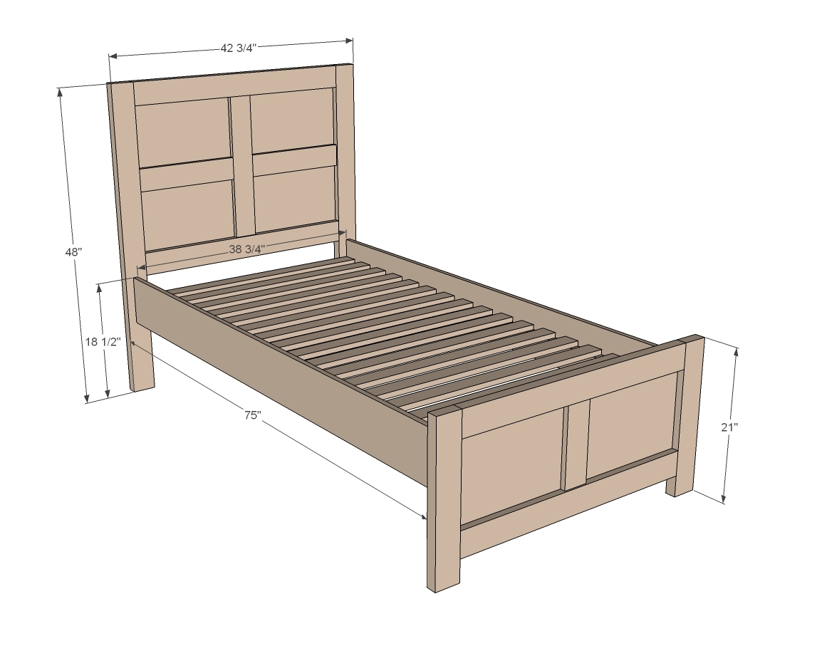 ... Build a Emme Twin Bed | Free and Easy DIY Project and Furniture Plans