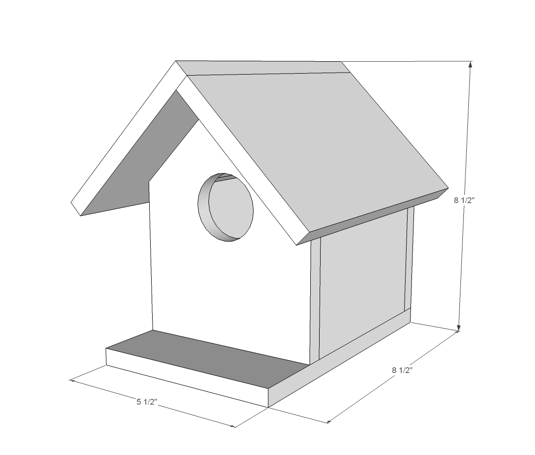 dimensions for birdhouse plans