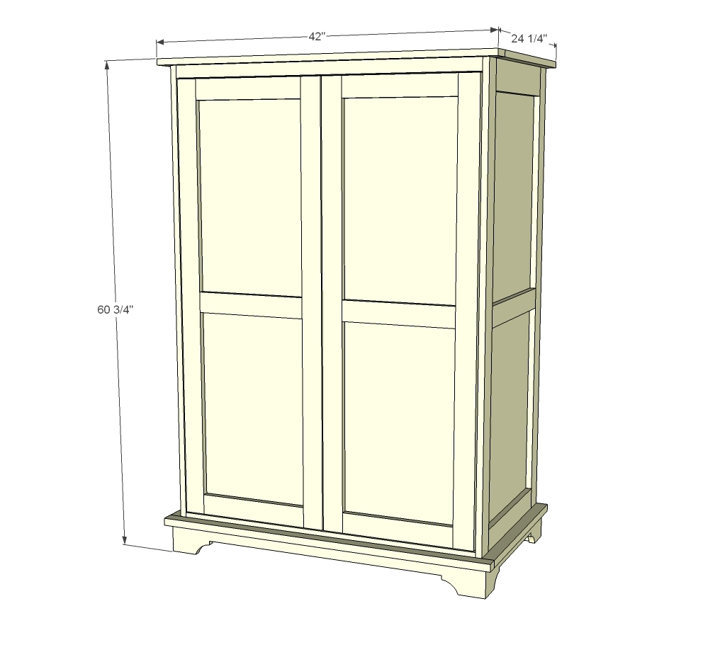 Ana White  Toy or TV Armoire  DIY Projects -> Armoire De 📺