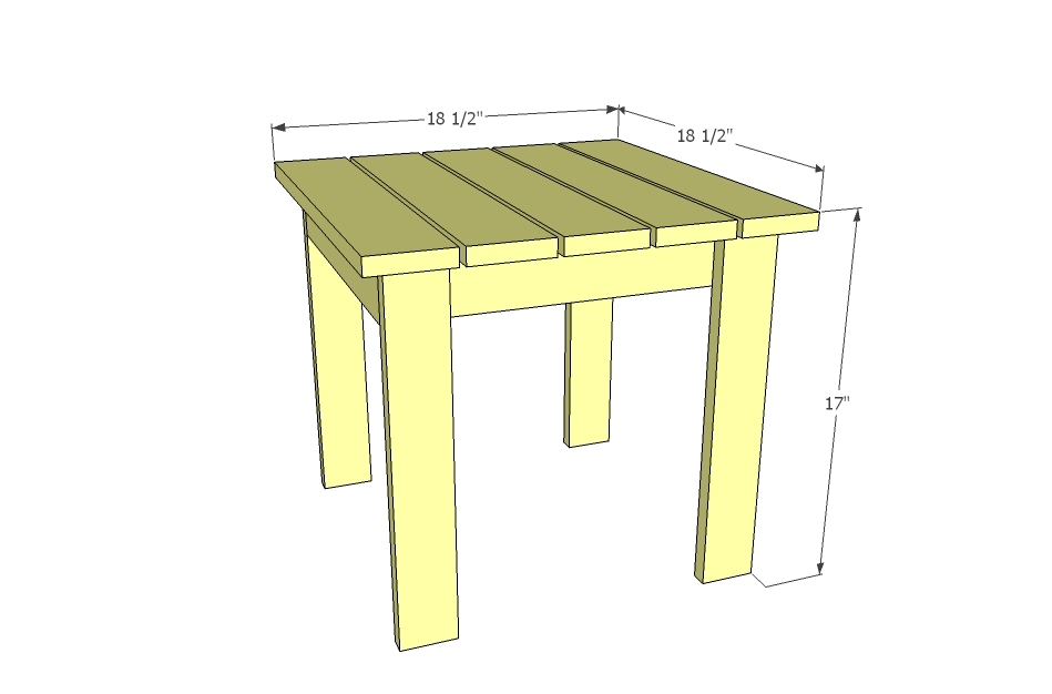 side table pattern
