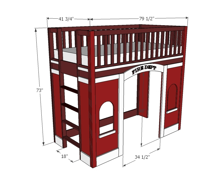 firestation playhouse bed
