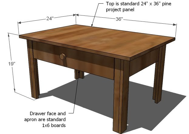 coffee table plans metric