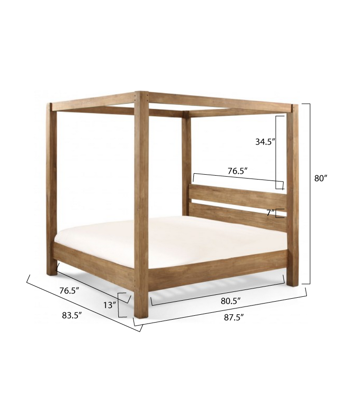 wood canopy bed woodworking plans