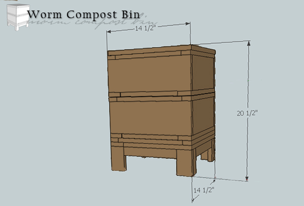 worm compost dimensions
