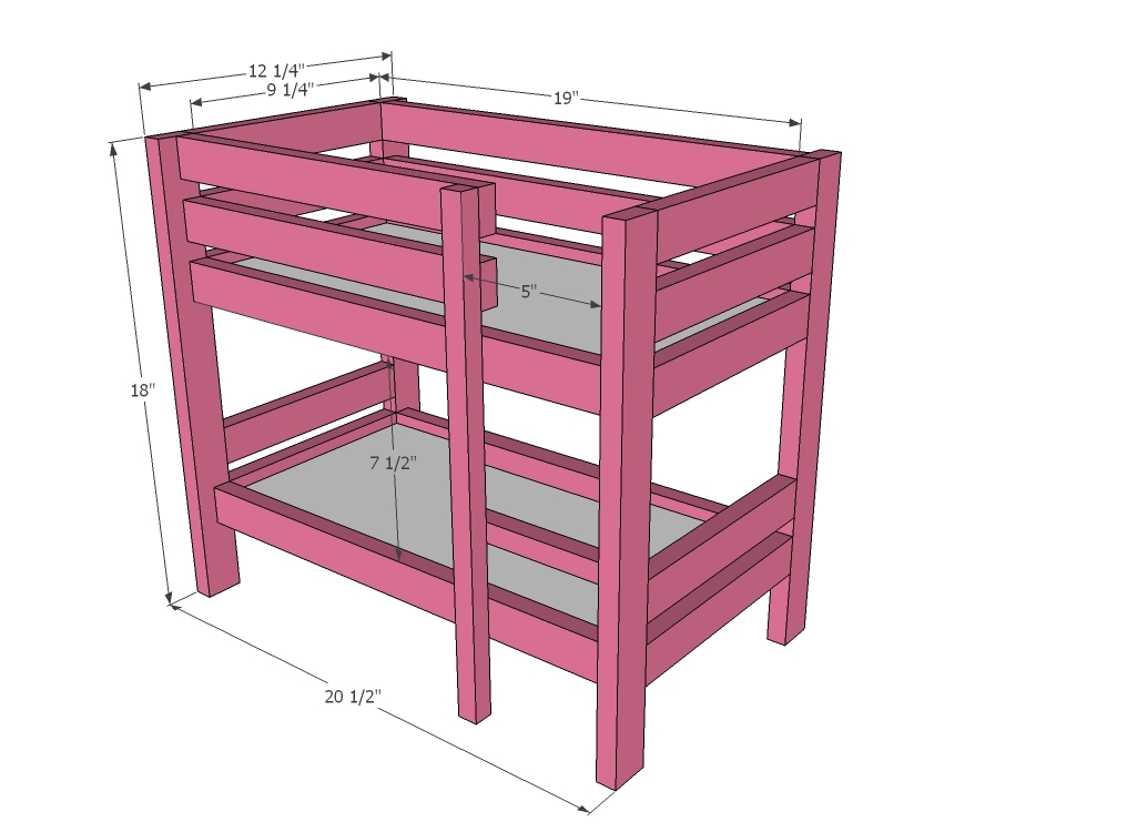 Woodworking Plans 18 Inch Doll Bed Plans PDF Plans