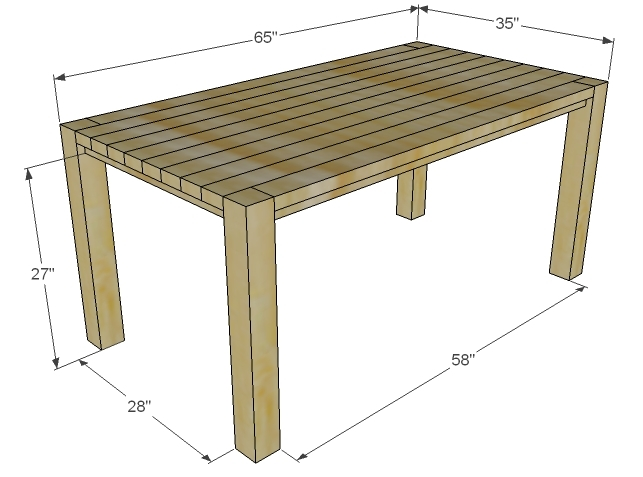Farmhouse Table Dimensions Home Design Ideas And Pictures