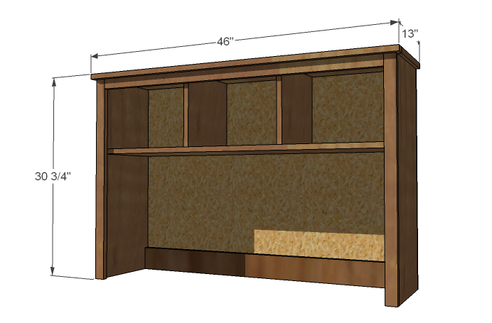 plans for homemade computer desk and hutch