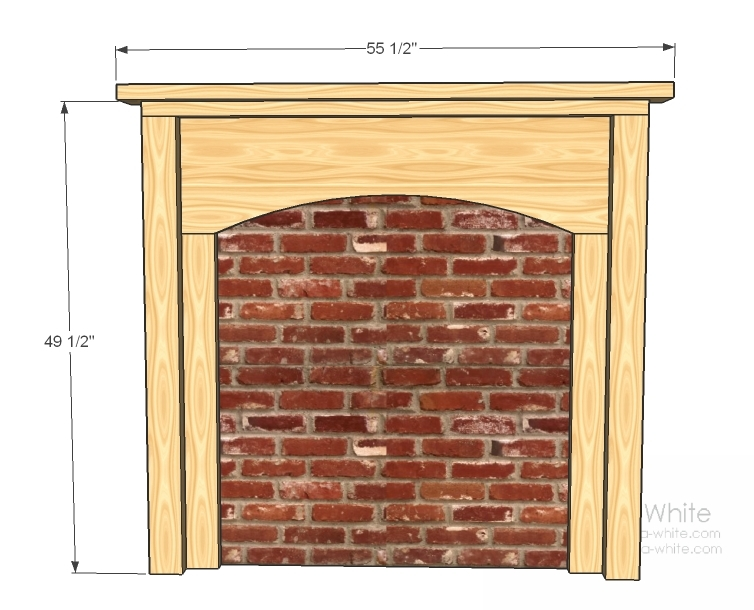 Ana white fireplace anywhere diy projects for Fireplace building plans