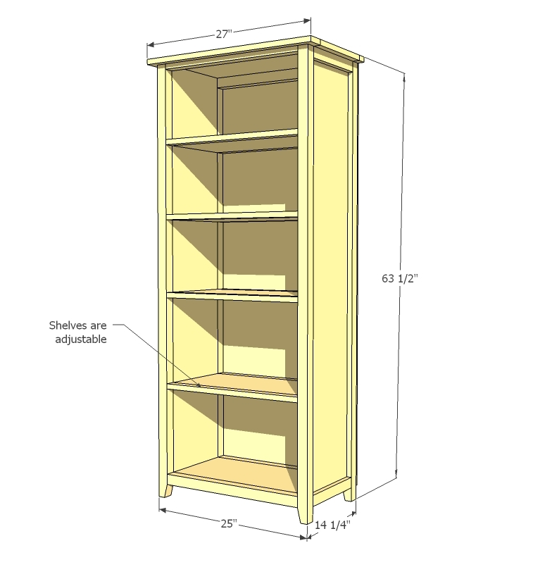 ana white channing bookcase diy projects. Black Bedroom Furniture Sets. Home Design Ideas