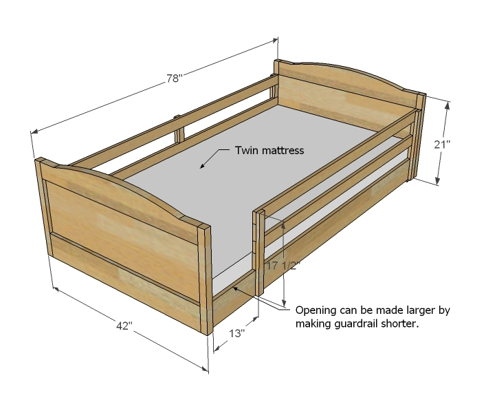 Bunk Bed Dimensions Plans Aji