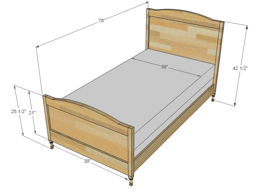 Twin Bed Dimensions Dimensions
