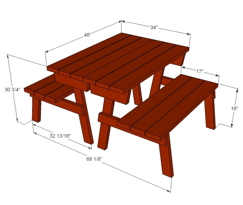 folding picnic table bench plans free | Woodworking Camp and Plans