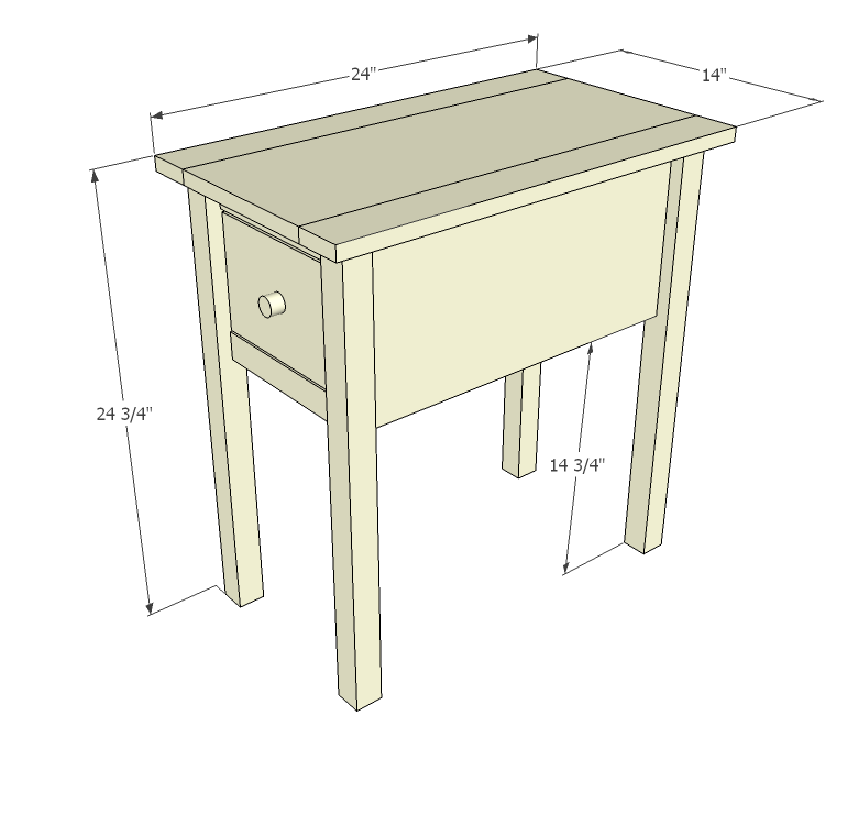 Ana White | Build a Narrow Cottage End Tables | Free and Easy DIY ...