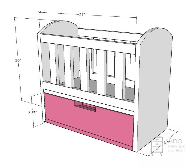 Diy baby cradle plans dimensions plans free - Baby crib for small spaces plan ...