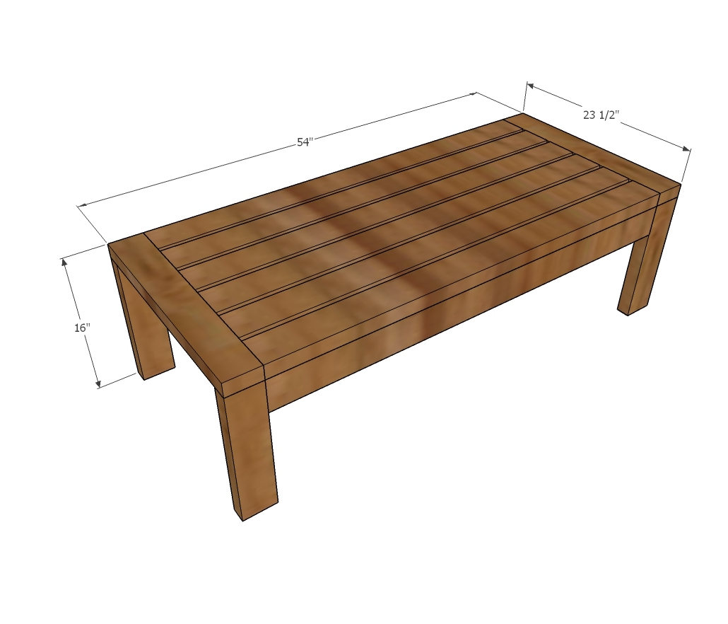 2x4 End Table Outdoor
