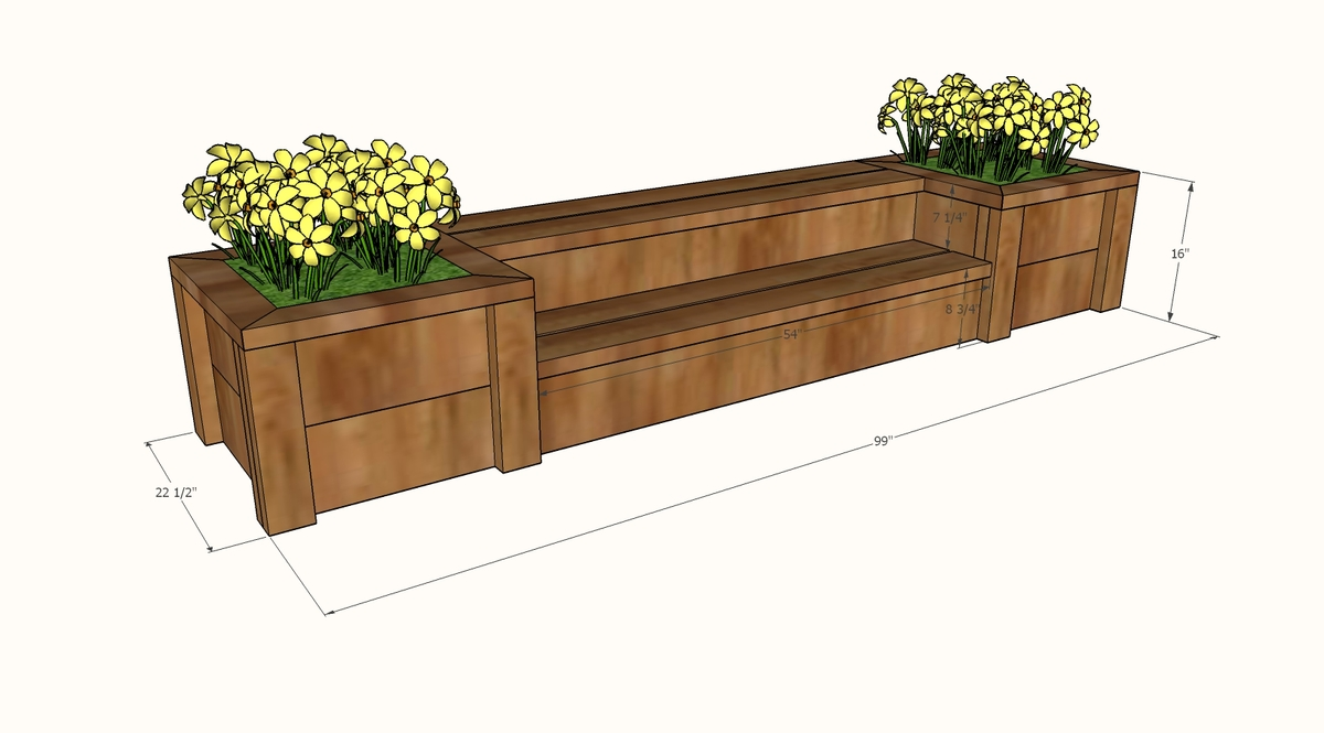 plans for freestanding planter steps