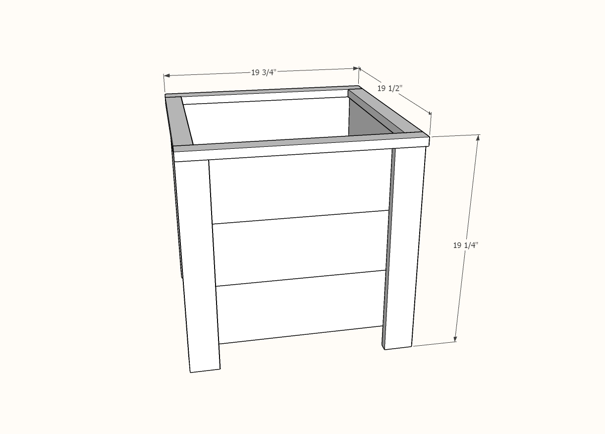 dimensions for diy planter box