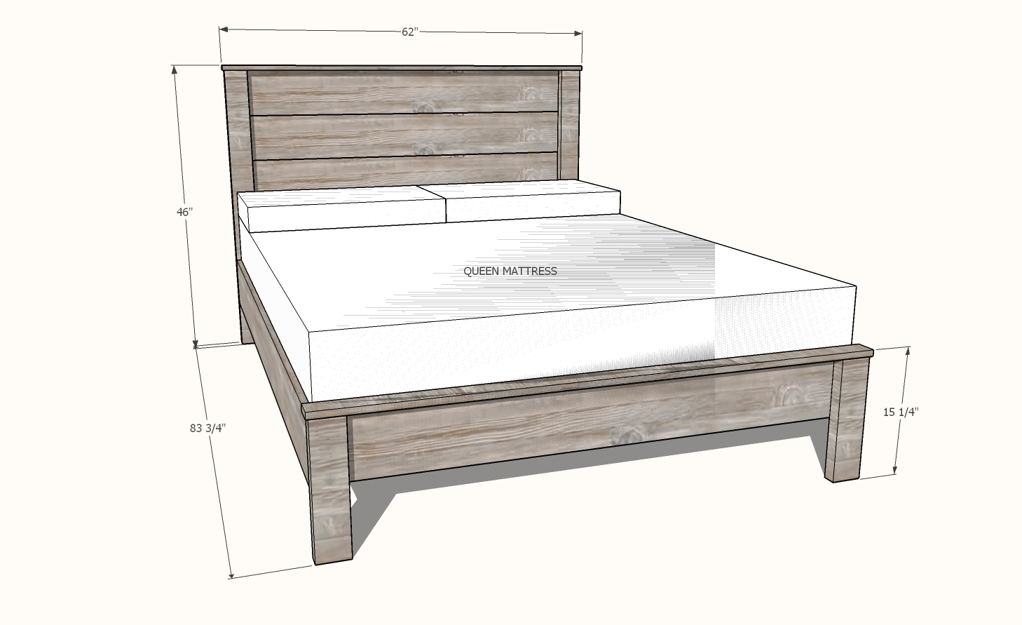 Simple Panel Bed All Mattress Sizes No Pocket Holes