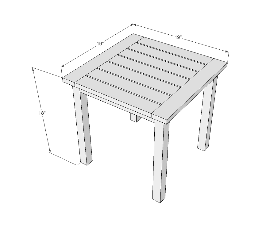 Free Plans to Build End Tables
