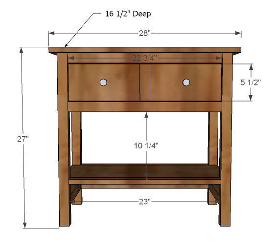 bedside table plans free