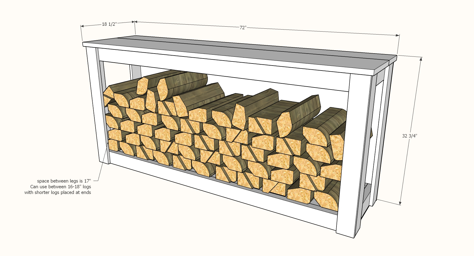 firewood storage cabinet indoor dimensions