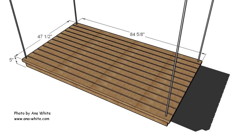 Ana white easiest hanging daybed diy projects for How to make a hanging bed