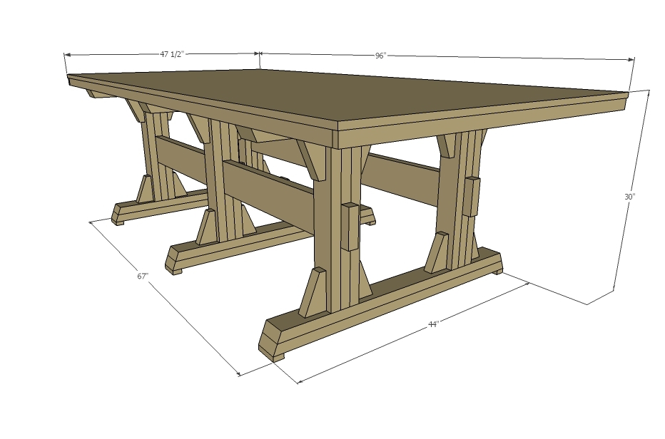 extra wide rustic dining table dimensions