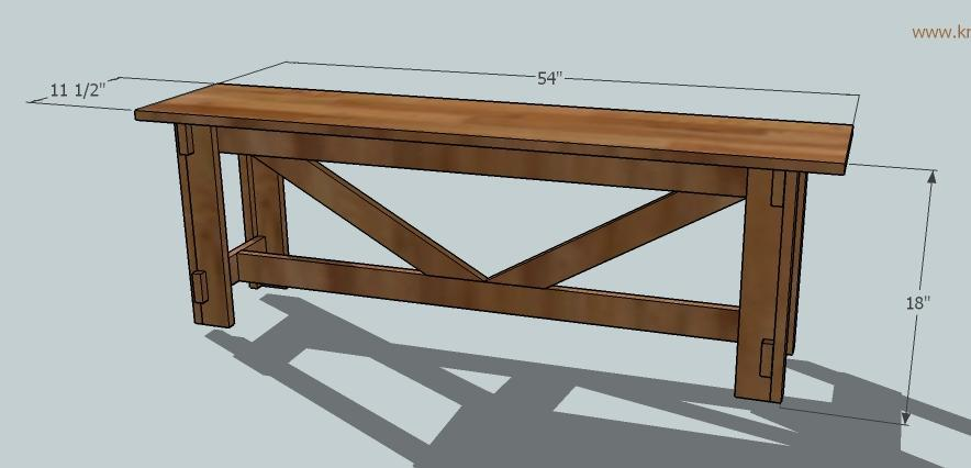 simple rustic bench plans