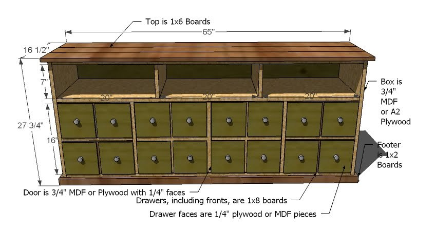 apothecary chest plans
