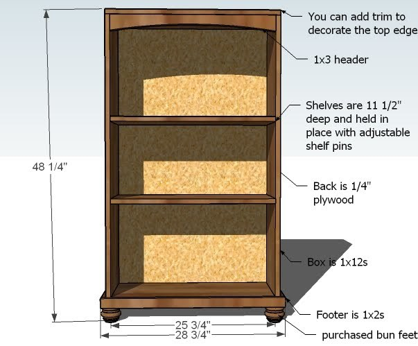 Build A Bookshelf Plans ~ Ana white cara bookcase to match the console diy projects