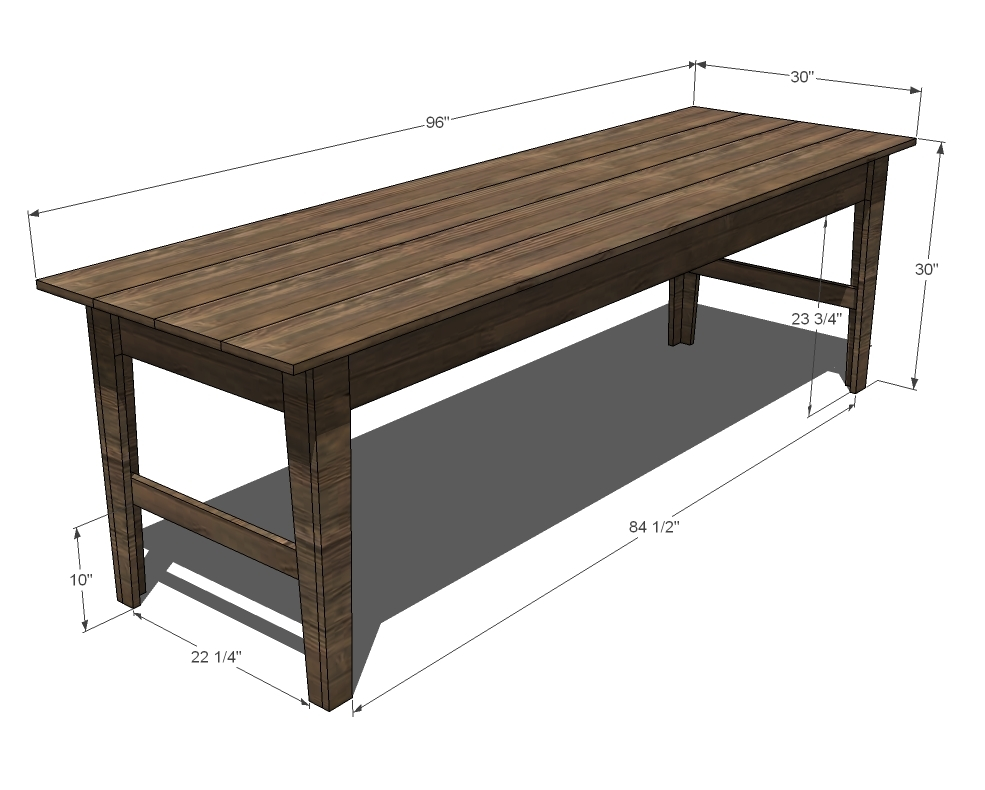 Fabulous Narrow Farmhouse Table Plans 985 x 790 · 220 kB · jpeg