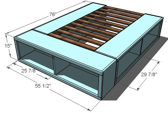 storage bed full size woodworking plans