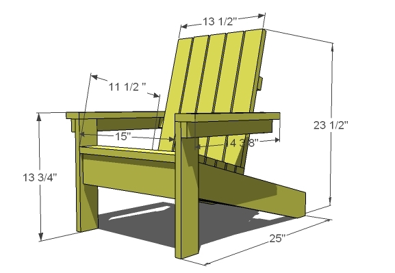 adirondack chair plans simple