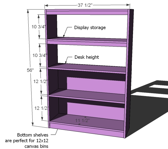 large bookcase dimensions