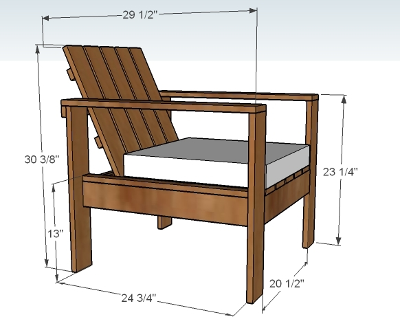 Wooden Outdoor Lounge Chair Plans