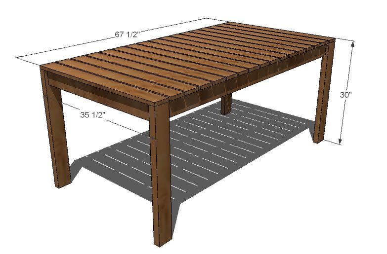 Backyard Table Plans : Contemporary Outdoor Dining Table from Design Within Reach  the