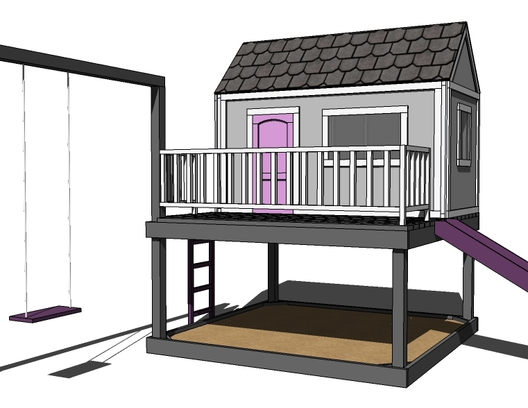 Woodwork diy playhouse plan pdf plans How to build outdoor playhouse