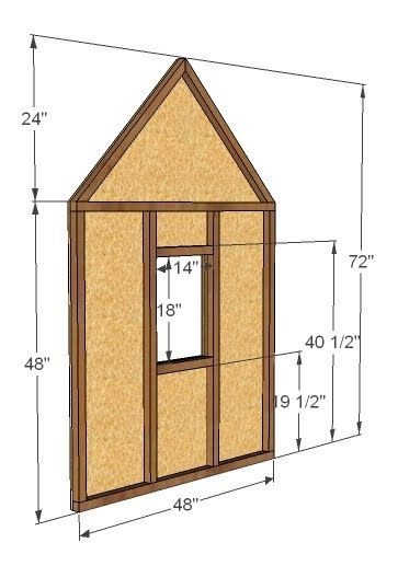 Pdf diy simple wooden playhouse plans download simple for Easy playhouse plans free