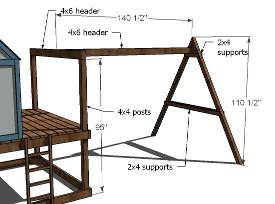 dimensions of the swingset