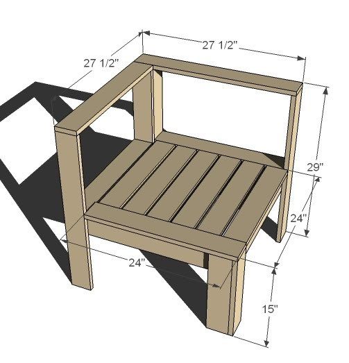 Corner And Ends For Outdoor Sectional - DIY