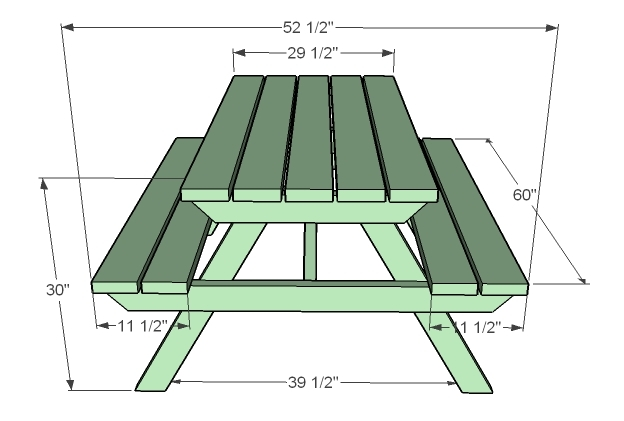 How To Build Picnic Table Plans