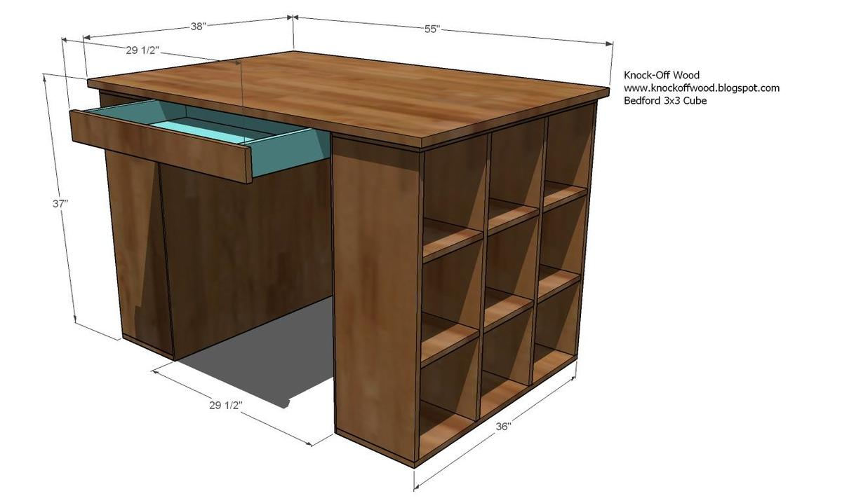 scrapbook desk plans