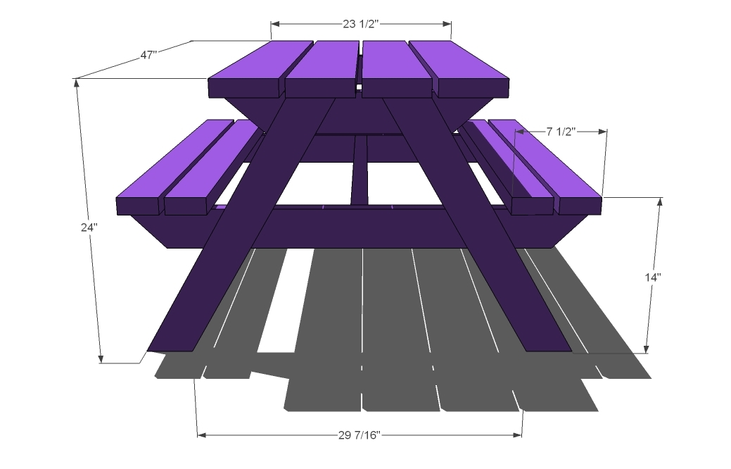 plans to build a picnic table and benches
