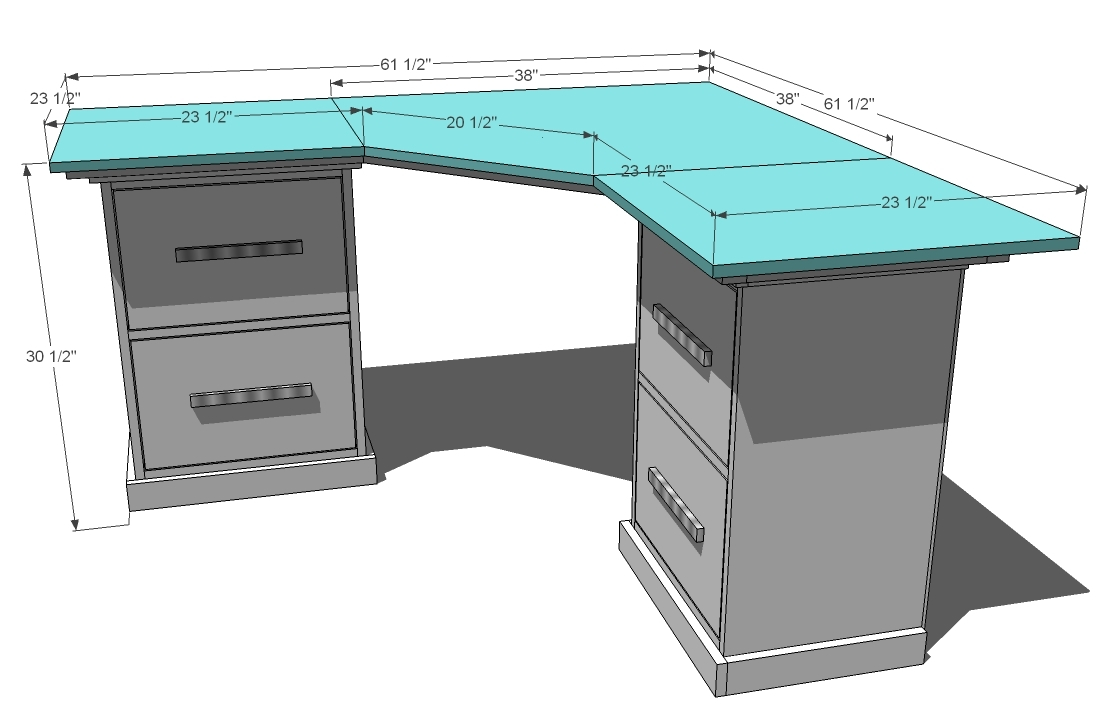 Woodworking Plans Corner Computer Desk